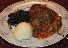 Melissa's Southern Style Kitchen: Salisbury Steak with Onion & Mushroom Gravy