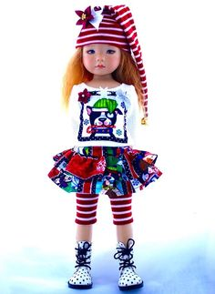 """~A Happy Puppy!~Holiday Outfit for 13"""" Effner Little Darlings by Sharon"""
