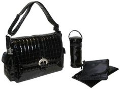 Kalencom Monique – Set de bolso cambiador, estampado color negro