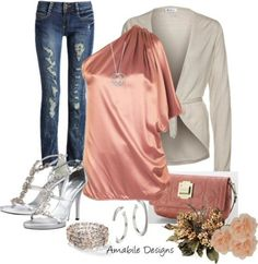 Pink Casual Date Night Outfit