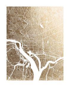 Washington D.C. Map by Alex Elko Design for Minted