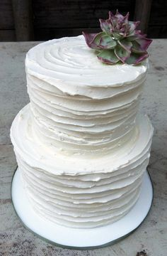 3 tier buttercream wedding cakes 2 tier ombre buttercream wedding cake with painted 10217