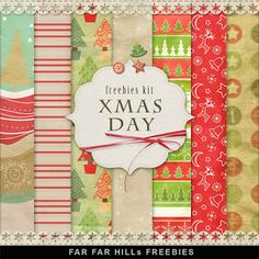 Freebies Kit of Background - Christmas Day - Far Far Hill