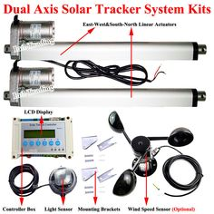 Complete LCD Dual Axis Solar Panel Tracking Tracker DIY Kit 12V Sun Track System | Home & Garden, Home Improvement, Electrical & Solar | eBay!