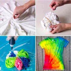 Colorful t-shirt! DIY