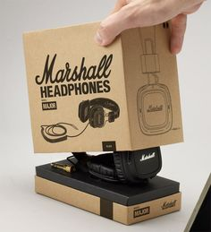 Marshall Headphones Preview - The Dieline - The #1 Package Design Website -