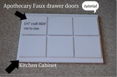 DIY faux drawers & Anthropologie knob tutorial - Four Generations One Roof