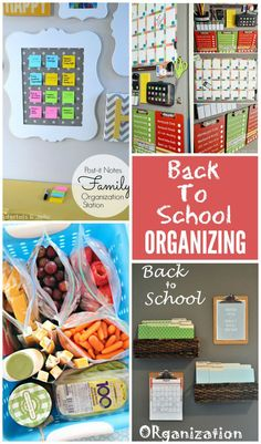 Fabulous Back To School Organizing ideas