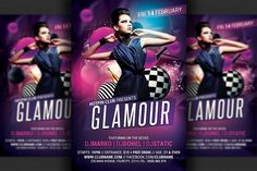 Glamour Party Flyer Template by Hotpin on @creativemarket