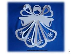 Paper angel with pattern Christmas Makes, Christmas Crafts For Kids, Christmas Angels, Christmas Art, Holiday Crafts, Christmas Wreaths, Christmas Decorations, Christmas Ornaments, Paper Decorations