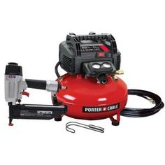 Porter-Cable, 6 gal. 150 psi Air Compressor and 16 GA Finish Nailer Combo Kit, PCFP72671 at The Home Depot - Mobile