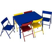 Safety 1st - 7-Piece Childrenu0027s Table and Chairs Set $119 folding table and  chairs