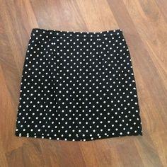 Black Polka Dot Skirt with Zipper In Back - L Black Polka Dot Skirt with Zipper In Back - L Forever 21 Skirts