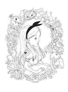 Printable Adult Coloring Pages, Cute Coloring Pages, Cartoon Coloring Pages, Disney Coloring Pages, Coloring Pages To Print, Coloring Books, Coloring Sheets, Free Coloring, Colouring Pages For Adults