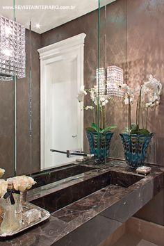 Detalhe do lavabo por Claudia Togni