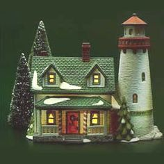 """Department 56: """"Craggy Cove Lighthouse"""" . I have this one...it's the one that started the collection!"""