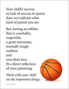 Sports Parents Poster (sold as a PDF) - Reinforces important messages to sports parents on the things that really matter, e.g. being a good teammate.