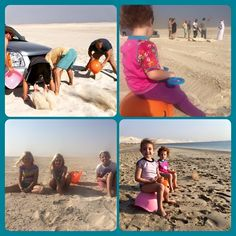 "Thanks to Claire Brom for sharing this great story: ""Today in the sand dunes of Qatar our much loved Bilibos were a rescue tool when we sunk into the sand, a seat to watch all the commotion of getting us out, a distraction and shell collector when the second hour rolled around and finally made it to the long awaited beach! Thank you Bilibo, we remain very loyal fans!"" #bilibo #lifesaver #beachtoy #moluk"