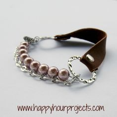 Happy Hour Projects: Mixed Media Leather Bracelet