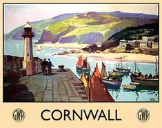 Cornwall, Cornish, Boats Ships Harbor, GWR Trains Railways, Small Metal/Tin Sign | eBay