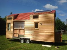 Tiny House with Folding Deck  |  TIMBER TRAILS:  Enabling cabin, cottage, and tiny house builders with resources for fast, efficient, and affordable housing alternatives.  Live Large -- Go Tiny!  > >  TimberTrails.TV