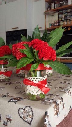 Decorazioni per i tavoli della festa di laurea di mia figlia