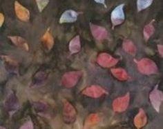 "Artisan Batik Arboretum: Bordeaux Leaves Batik - Fat Quarter 18"" x 22"""