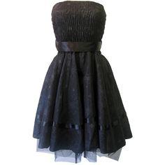 Prom Dress Black Satin | Gothic Clothing | Emo clothing | Alternative... ($43) ❤ liked on Polyvore