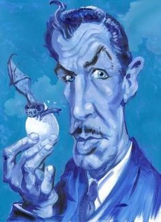 Vincent Price has an egg for breakfast.