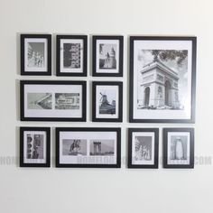details about wood photo picture frame wall collage set of 10 modern home office decorations
