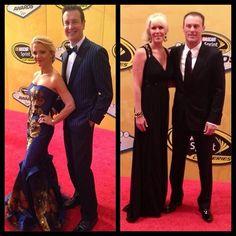Future SHR teammates at the 2013 #NASCAR Awards Banquet! #KurtBusch #PatriciaDriscoll #KevinHarvick #DelanaHarvick #Padgram