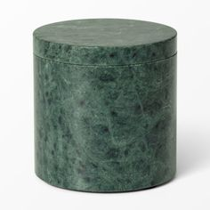 Burk i marmor, 10x10 cm, grön