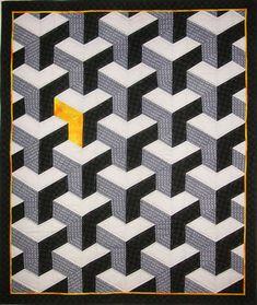 quilt optical strip blocks piecing
