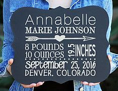 Baby Announcement Personalized Chalkboard Sign