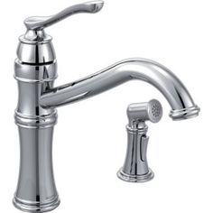 Moen One Handle High Arc Kitchen Faucet with Side Spray