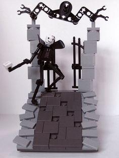 Jack Skellington by Count Blockula Lego Movie Sets, Lego Tv, Lego Halloween, Lego Pictures, Lego People, Lego Minifigs, Top Blogs, Everything Is Awesome, Legoland
