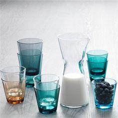 Iittala Kartio: Mooie glazen en karaffen in verschillende kleuren. #glaswerk #tafelen