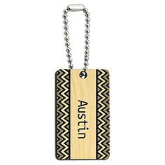 Austin Black and Grey Chevrons Wood Wooden Rectangle Key Chain - http://www.cwebmarket.com/women/women-accessories/keyrings-keychains/austin-black-and-grey-chevrons-wood-wooden-rectangle-key-chain/