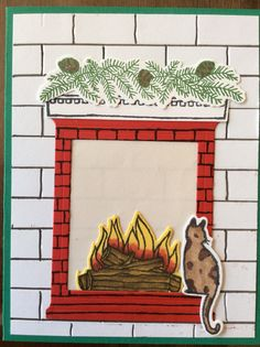 Festive fireplace stamp set with festive fireside and hearth amp home