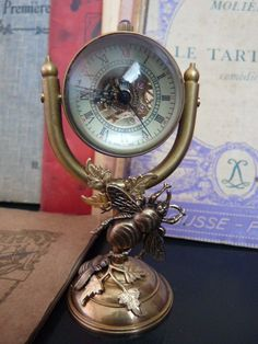 steam punk brass clock by talulabelle on Etsy