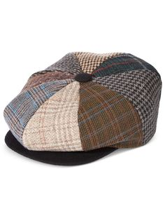 A fun mix of houndstooth and plaids brings a fresh look to this newsboy hat from Stetson, giving you a striking finish for any casual ensemble. Casual Loafers, Casual Sneakers, Vintage Closet, News Boy Hat, Handbag Accessories, Houndstooth, Clothing Items, Baby Shoes, Cap