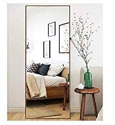 online shopping for Hans&Alice Full Length Bedroom Floor Leaner Mirror,Free Standing Dressing Mirror 65 (Wood) from top store. See new offer for Hans&Alice Full Length Bedroom Floor Leaner Mirror,Free Standing Dressing Mirror 65 (Wood) Leaner Mirror, Dressing Mirror, Bedroom Flooring, My New Room, Home Interior, Modern Bedroom, Trends, Full Mirror, Stand Up Mirror