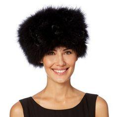 Top Hat by Stephen Jones black feather cossack hat was £80 now £64 Debenhams