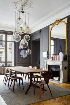 31 Of The Most Brilliant Modern Dining Table Design Ideas - Best Home Ideas and Inspiration Dinning Room Tables, Dining Table Design, Modern Dining Table, Dining Room Furniture, Dining Rooms, Interior Desing, Home Interior, Interior Colors, Rooms Ideas