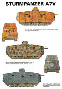 германия Ww1 History, Military History, Ww1 Tanks, Steampunk Artwork, Camouflage Colors, Armored Fighting Vehicle, Military Weapons, Military Equipment, World War One