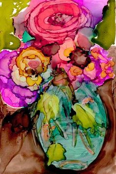 Spring vase - Original Fine Art for Sale - © Kelly Alge
