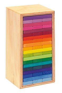 Building Slats 'Tower in a Box' coloured 60 parts - colours, array, rainbow, endless combinations....ArtMakesSense $75 suggest for ollie?