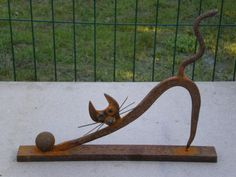 Welding Art Projects, Metal Art Projects, Welding Ideas, Garden Projects, Garden Ideas, Recycled Metal Art, Scrap Metal Art, Art Fer, Art En Acier