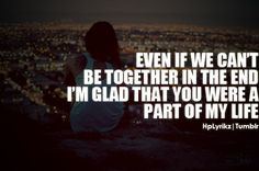It would be nice if everyone who has ever had a serious relationship that didn't last could arrive at this stage. In the end, that's all that matters. Up Quotes, Quotes To Live By, Love Quotes, Quotable Quotes, The Words, Cant Be Together, Together Quotes, Inspirational Quotes Pictures, All That Matters