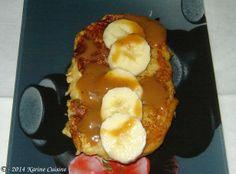 karine-cuisine.blogspot.com Le pain perdu à la confiture de lait et à la banane